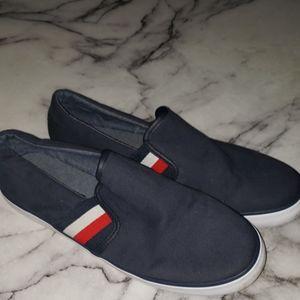 Tommy Hilfiger Slip On Shoes Sz 9.5 Navy Blue